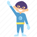 child superhero, comic superhero, superboy, superhero cartoon, superhero kid icon