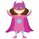 batgirl, child superhero, comic superhero, superhero cartoon, superhero kid icon