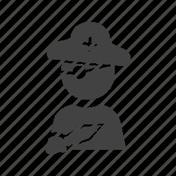 boy, cartoon, child, cute, happy, kid, pirate icon