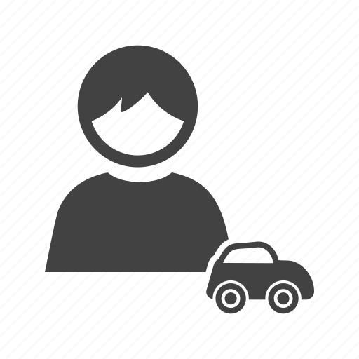 car, child, happy, kid, playing, race, toy icon