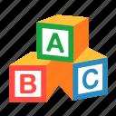 abc, alphabet, blocks, cubes, education, toy, block