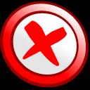 button, cance icon