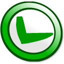 button, ok icon
