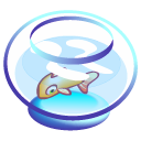 bowl, fish icon