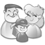 family, grey, users icon