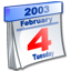 2003, calendar, date, event, february icon