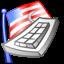 flag, keyboard icon