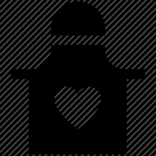 apron, heart, kitchen, protection, tools, utensils icon