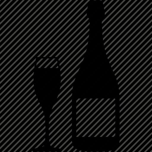 bottle, champagne, drink, glass, restaurent, wine, wine cup icon