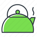 boiling water, kettle, kitchen, teapot icon