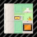 appliances, equipment, fixture, furniture set, kitchen, tool icon