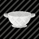 colander, dishes, equipment, fixture, kitchen, sieve, tool icon