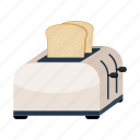 equipment, fixture, grated bread, kitchen, toaster, tool icon