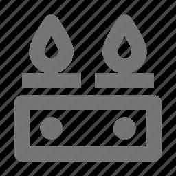 burner, cook, fire, flames, gas, kitchen, restaurant icon