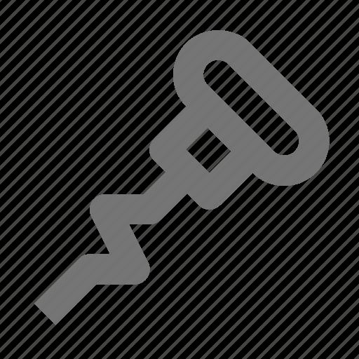 corkscrew, kitchen icon