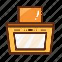 cooker, exhaust, home, hood, kitchen