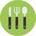 cooking, cutlery, fork, kitchen, knife, spoon