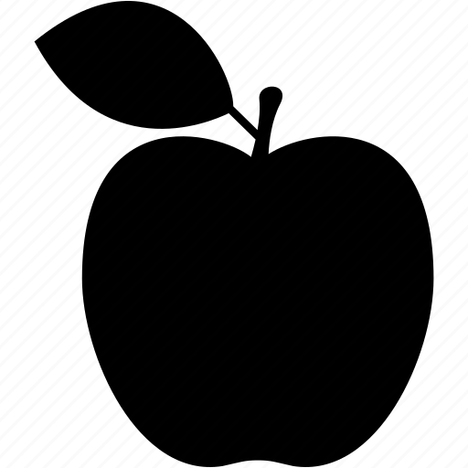 apple, food, fruit, leaf, sweet icon