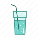 beverage, bottle, drink, food, kitchen, restaurant, water icon