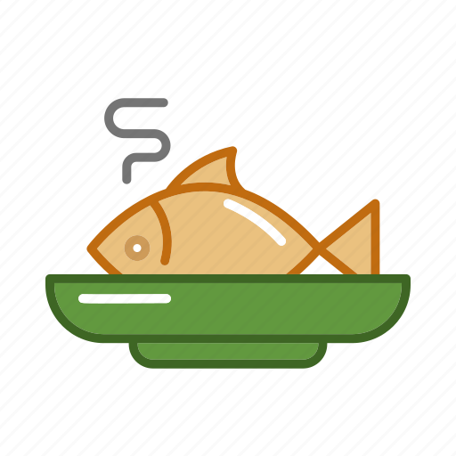 beverage, bottle, drink, fish, food, kitchen, plate icon