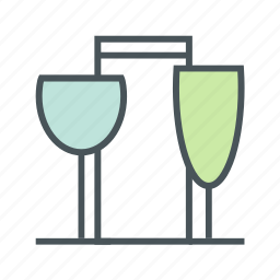 cooking, glasses, kitchen icon