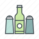 cooking, kitchen, pepper, salt icon