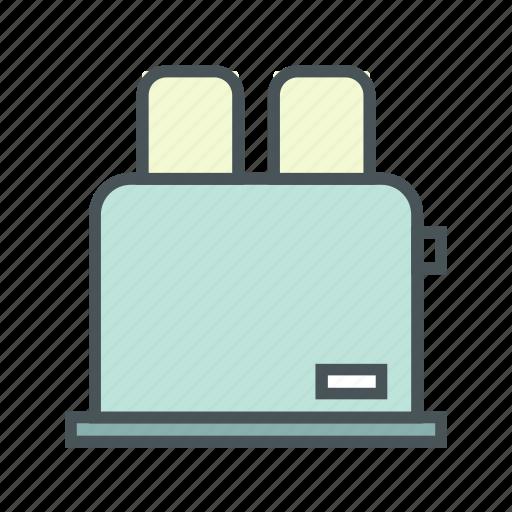 cooking, kitchen, toaster icon