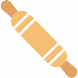 bread, flour, food, kitchen, maker, roller, rollingpin icon