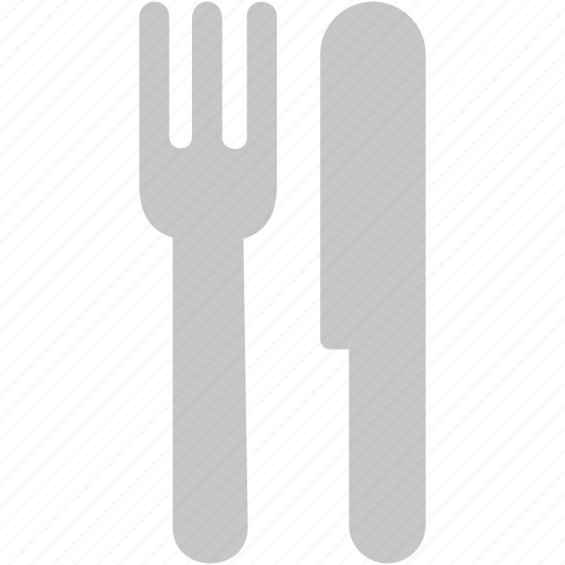cutlery, eating, fork, kitchen, knife, restaurant icon