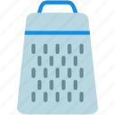cheese, cook, food, grater, kitchen, tool, utensil icon