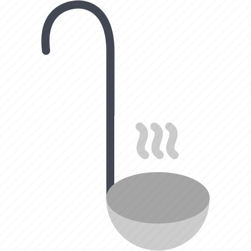 cooking, hot, kitchen, ladle, serving, soup, tool icon