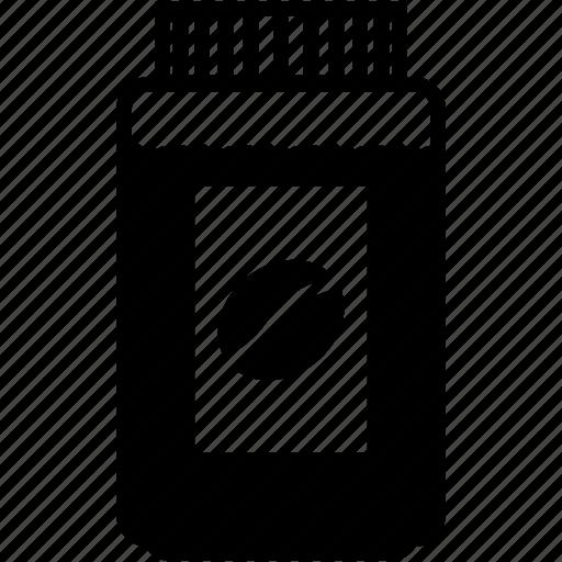 big, cappuccino, coffee, grains, jar icon