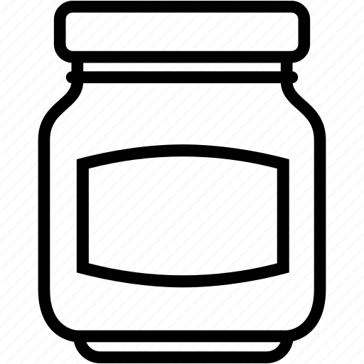 bottle, container, empty, glass, jam, jar icon