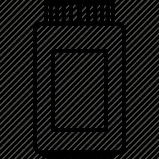 big, container, empty, glass, jar, plastic icon