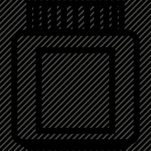 container, empty, glass, jar, plastic, small icon
