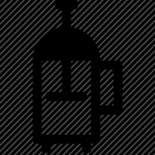 arabica, caffeine, coffee, kitchen, maker, pot, press icon