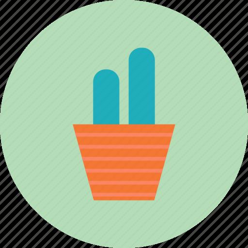 cactus, flowerpot, interior, pot icon