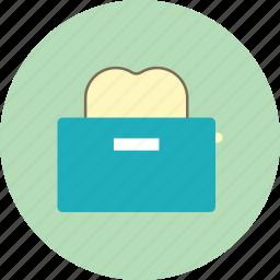 bread, breakfast, toast, toaster icon