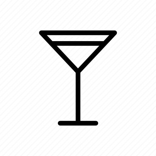Glass, drink, alcohol, cocktail, martini icon