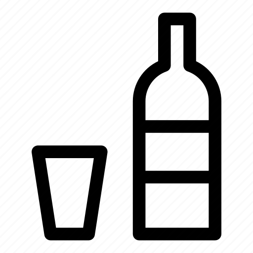 alcohol, bottle, drunkenness, glass, kitchen, vodka icon