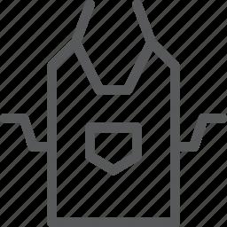 apron, clothes, cook, kitchen, protection, uniform icon