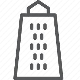 cheese, dairy, food, french, grater, holes, kitchen, nourishment icon