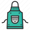 apron, chef, cook, kitchen, tool icon
