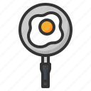 egg, food, fried, kitchen, pan icon