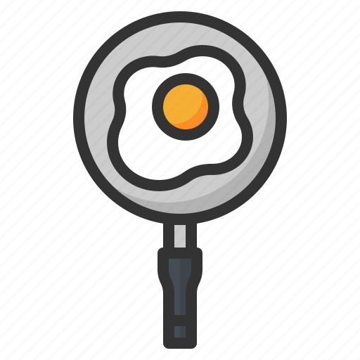 Egg, food, fried, kitchen, pan icon - Download on Iconfinder