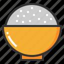 bowl, cuisine, food, rice, utensil icon