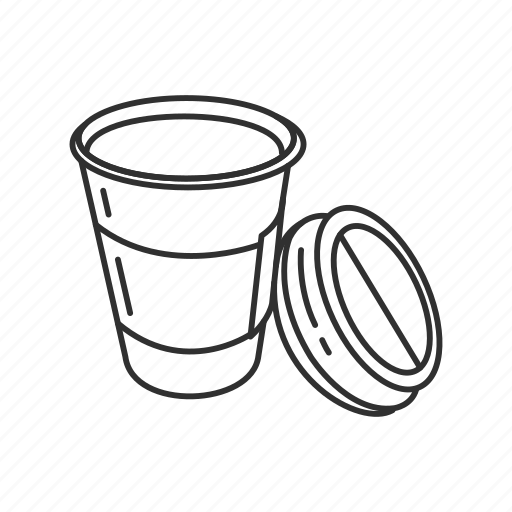 accessories, coffee cup, cup, drink, kitchen, plastic cup, water icon