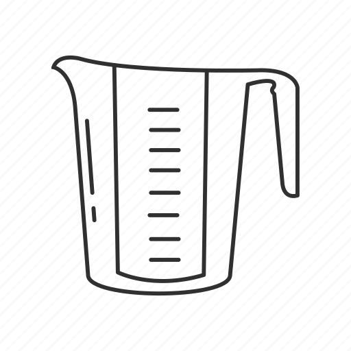accessories, beverage, cook, cups, kitchen, measure, measuring cups icon