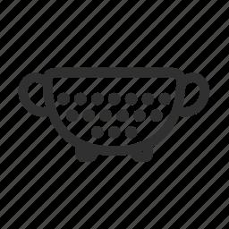 colander, collander, cook, filter, kitchen, sieve, strainer icon