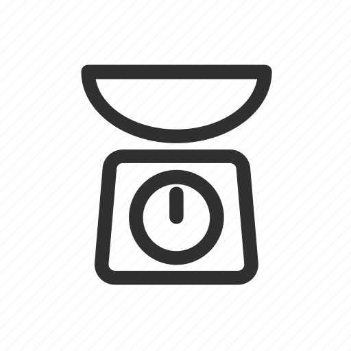 cooking, food, kitchen, measure, scale, weigh icon